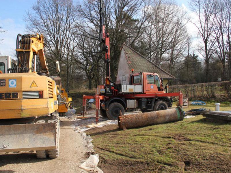 Sanierung des  84,5 m tiefen Brunnens